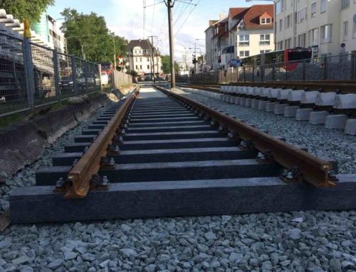 Frankfurts U-Bahn fährt auf Pioonier Kunststoffschwellen